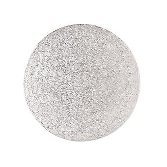 Culpitt 9-quot; (228mm) Single Thick Round Turn Edge Cake Cards Silver Fern (1.75mm Thick) Boxed 25