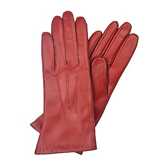 Becky Classic Leather Gloves in Red