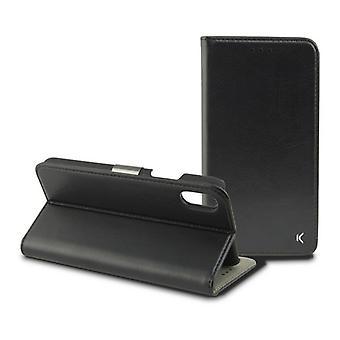 Folio Teléfono Móvil Caso Iphone Xs KSIX Negro