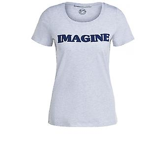 Oui Light Grey Imagine T-Shirt