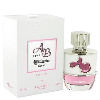 Ab Spirit Millionaire Premium Eau De Parfum Spray By Lomani 3.3 oz Eau De Parfum Spray