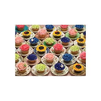 Cobble Hill Jigsaw Puzzle – Cupcakes & Saucers, 1000 Piece