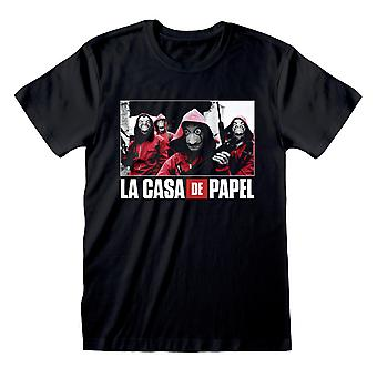 La Casa De Papel Money Heist Group Photo Men & apos;s T-Shirt | البضائع الرسمية