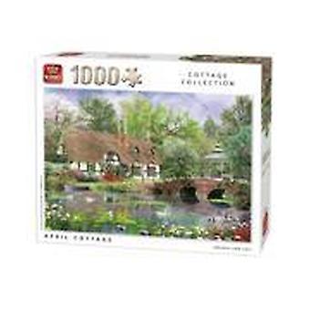 King Jigsaw Puzzle - Cottage Collection April Cottage, 1000 Piece