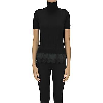 P.a.r.o.s.h. Ezgl081058 Women's Black Wool Sweater