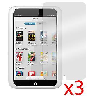 "3x Barnes & Noble Nook HD 7"" LCD Screen Protector Cover Guard"