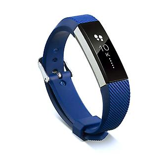 Replacement Wristband Bracelet Strap Wrist Band for Fitbit Alta Classic Buckle [Navy Blue] BUY 2 GET 1 FREE