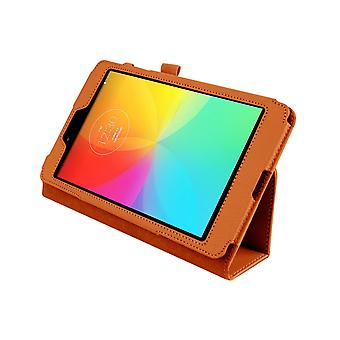 """Magnetic PU Leather Case Cover for LG G Pad 8.0 V480 8""""[Orange]"""