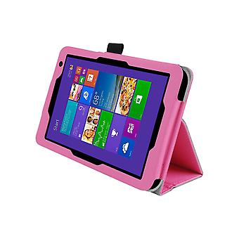 "Magnetic PU Leather Case Cover for Toshiba Encore 2 WT8 8""[Pink]"