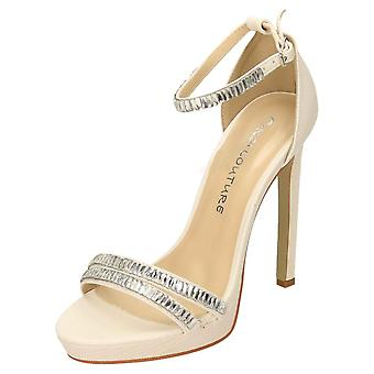 Koi Footwear High Heel Ankle Strap Shoes Open Toe Two Part Sandals