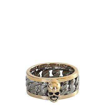 Alexander Mcqueen 599974j160k8670 Men's Gold Brass Ring