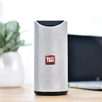 T & G TG-113 Wireless Soundbar Speaker Wireless Bluetooth 4.2 Speaker Box Silver