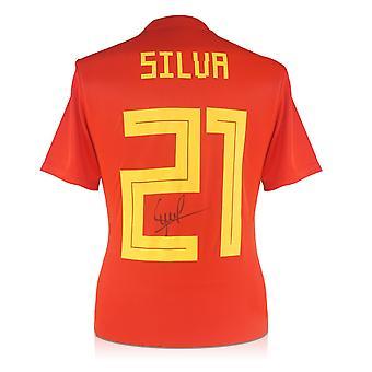 David Silva firmó españa 2018-19 Camiseta de casa