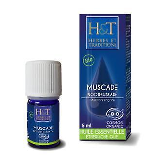 Huile Essentielle Muscade (Noix) (Myristica Fragrans) 5 ml de huile essentielle