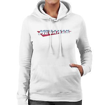 Mega Man Retro Logo Women's Hooded Sweatshirt
