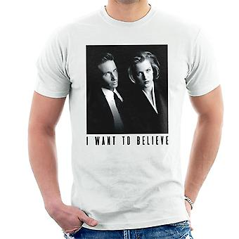 X-Files Mulder And Scully I Want To Believe Men's T-Shirt