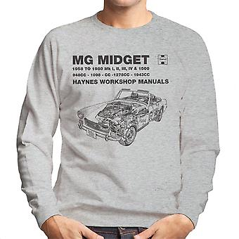 Haynes Owners Workshop Manual 0265 MG Midget 948 to 1275cc Black Men's Sweatshirt
