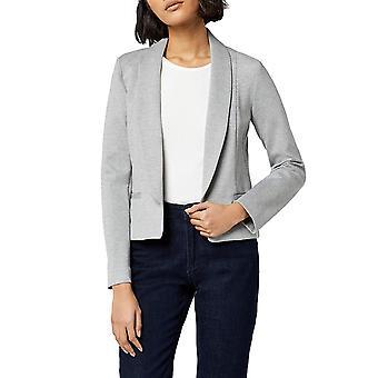MERAKI Women's Shawl Collar Fitted Blazer,  Gray, M (US 8)