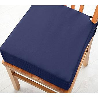 Changing Sofas Navy Blue Cotton Twill Dining Chair Seat Pad Cushion, Pack of 4
