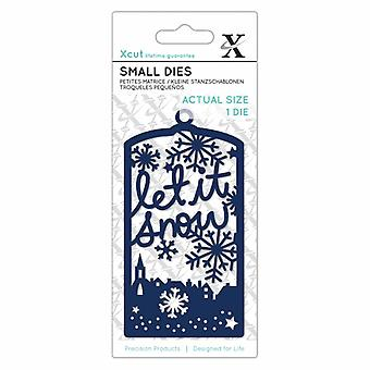 Xcut Small Die Let It Snow Tag