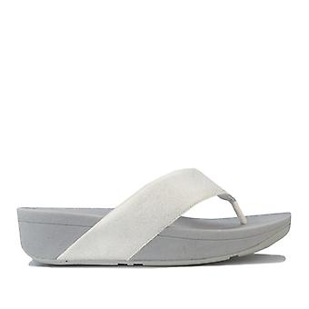 Women's Fit Flop Demelza Shimmer Toe Thong Sandals in Silver