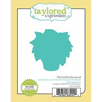 Taylored Expressions Poinsettia Bouquet Coordinating Die