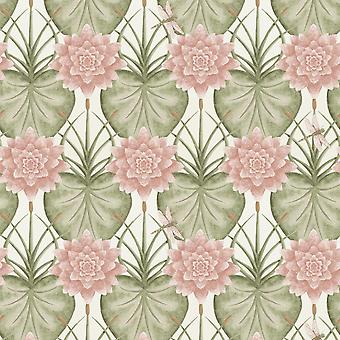 The Chateau by Angel Strawbridge The Lily Garden Wallpaper Cream LIY/CRE/WP