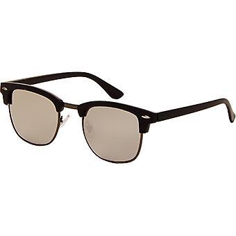 Sunglasses Unisex black with grey mirror lens (AZ-2210)