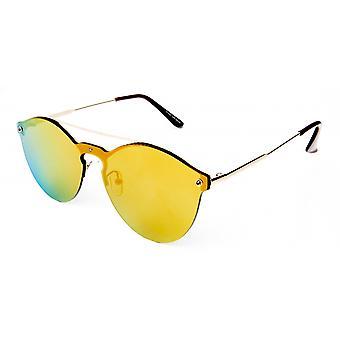 Sonnenbrille Unisex  Trendy  Kat.3 Panto orange (19-054)