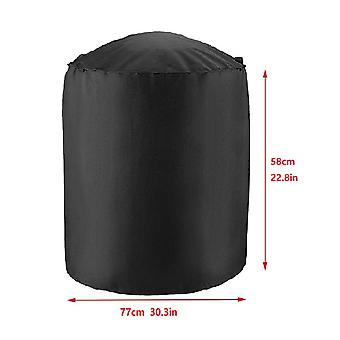 Homemiyn Outdoor Bbq Stove Round Covers Anti-dust Cover Waterproof