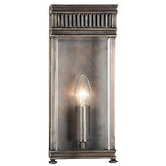 1 Lichte Outdoor Kleine Muur Half Lantern Light Donker Brons IP44, E14