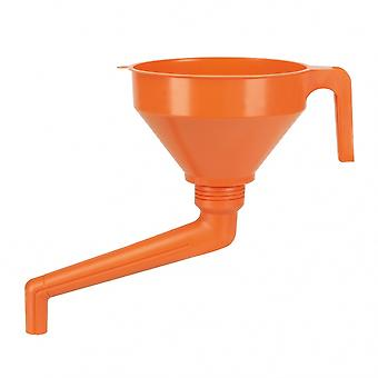 entonnoir combit 160 mm polyéthylène 1,2 litre tamis orange