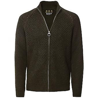Barbour Cashmere Wool Zip-Through Mack Cardigan
