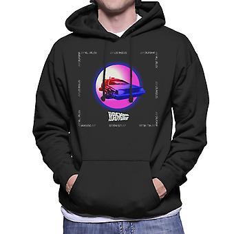 Back to the Future Delorean Purple Moon Men's Hooded Sweatshirt