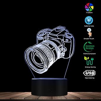 Camera Novelty Table Night Light Digital Single Lens Reflex Shape Led Engraved Touch Control