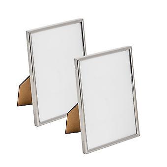 Nicola Spring Metal 5x7 Fotolijst. Silver Colour - Staand - Pak van 2