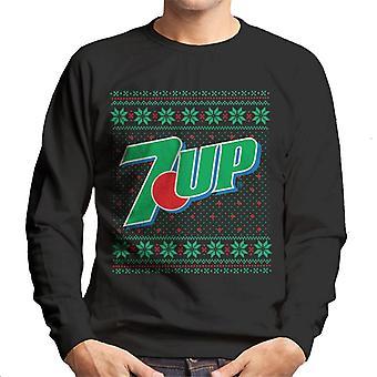 7up Christmas Logo Knitted Design Men's Sweatshirt