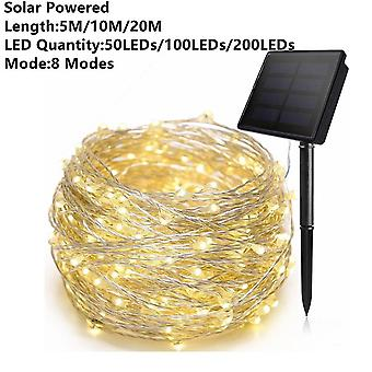 Solar Powered 1/2/5/10/20m- Fairy Lights Kobber Wire Led String Lights Holiday Lighting