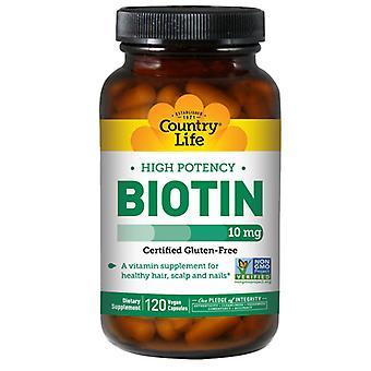 الحياة القطرية البيوتين، 10 ملغ، 120 CAPS