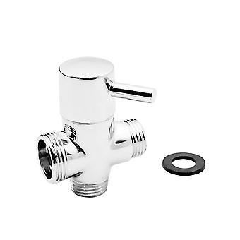 3 Way Brass Chrome Switch Adapter  Shower, Mixer Diverter Shower Head Arm