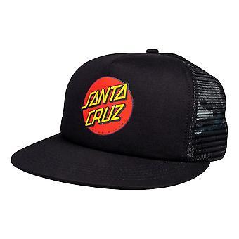 Santa Cruz Classic Dot Mesh Cap - Black / Black