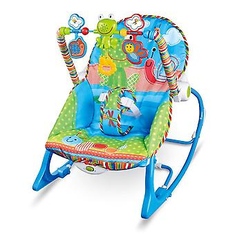 Baby Multi-function Music Electric Swing Appease Rocking Chair Baby Cradle (blue)