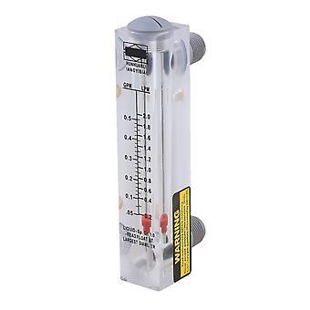 LZM-15 0.05-0.5GPM 0.2-2LPM Panel Type Water Flowmeter Measurement Tool