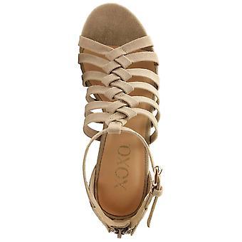 Xoxo naisten Bassett puuvilla avoin toe muodollinen strappy sandaalit