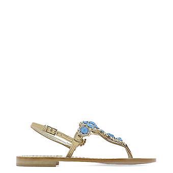 Emanuela Caruso J23cazzurro Women's Light Blue Leather Flip Flops