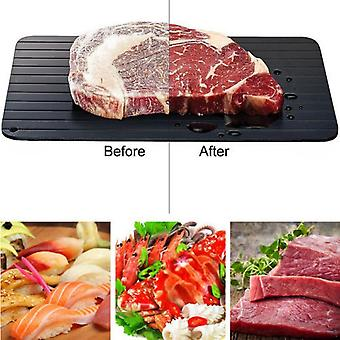 Fast Defring Tray Thaw Frozen Food Meat Fruit Quick Defrost Plate Board Defrose Kitchen Gadget Tool