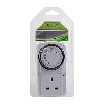 Pifco 24 Hour Programmable Timer Smart Plug Manual Override Kitchen Gadget