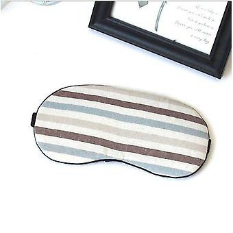 1pc Cotton Travel - Sleeping Relax Aid Mask For Eye Shade Cover , Comfort Care