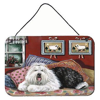 Vanhat englantilaiset lammaskoiran makeat unelmat seinä tai oven ripustus tulosteet