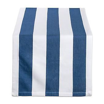 Dii Navy/White Dobby Stripe Table Runner